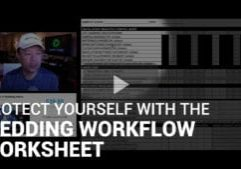 PRotect yourself with the wedding workflow worksheet